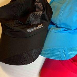 3x Unisex  New Sun Caps Blue Black & Pink